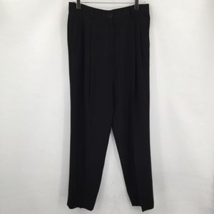 Holt Renfrew vintage high-rise black pants 10